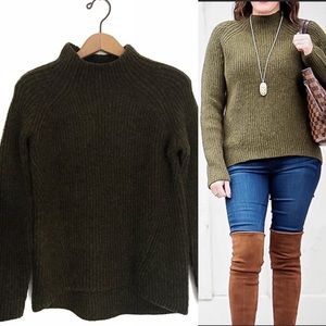 Madewell Northfield Mock Neck Wool Blend Sweater!